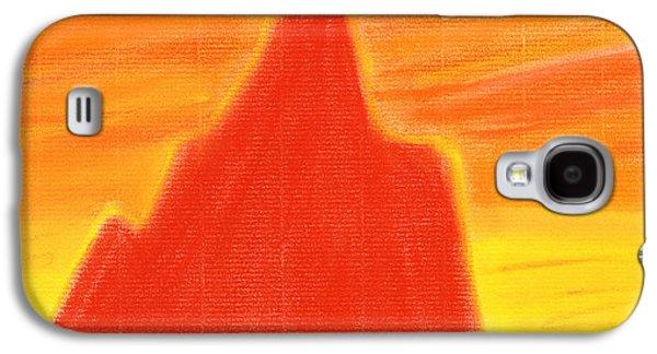 Sunset Abstract Pastels Galaxy S4 Cases - Orange Sunset Galaxy S4 Case by Hakon Soreide