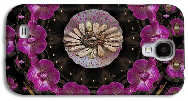 Contemplative Mixed Media Galaxy S4 Cases - Orchids And Fantasy Flowers Galaxy S4 Case by Pepita Selles