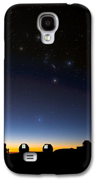 Keck Galaxy S4 Cases - Orion And Observatories, Hawaii Galaxy S4 Case by David Nunuk