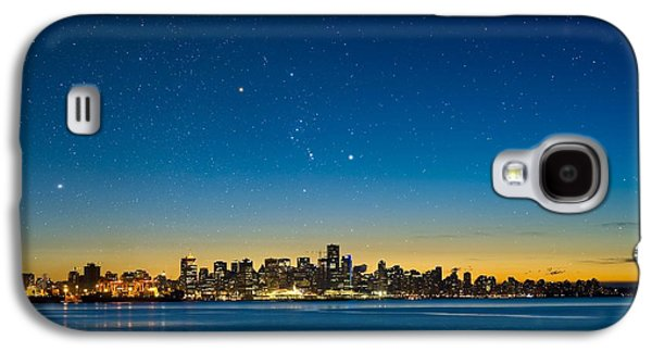 Burrard Inlet Galaxy S4 Cases - Orion Over Vancouver, Canada Galaxy S4 Case by David Nunuk