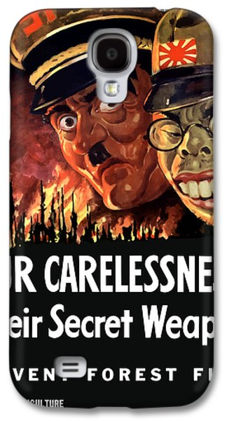 Caricatures Galaxy S4 Cases - Our Carelessness Their Secret Weapon Galaxy S4 Case by War Is Hell Store