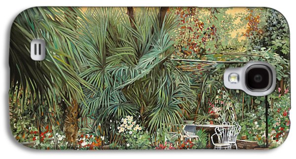 Vase Paintings Galaxy S4 Cases - Our Little Garden Galaxy S4 Case by Guido Borelli