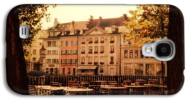 Recently Sold -  - Architectur Galaxy S4 Cases - Outdoor Cafe in Lucerne Switzerland  Galaxy S4 Case by Susanne Van Hulst