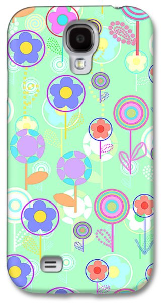 Louisa Galaxy S4 Cases - Overlayer Flowers  Galaxy S4 Case by Louisa Knight