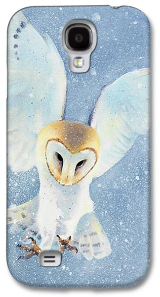 Original Art Paintings Galaxy S4 Cases - Owl Detail Galaxy S4 Case by Tim Dangaran