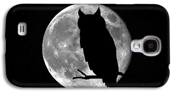 Creepy Digital Art Galaxy S4 Cases - Owl Moon Galaxy S4 Case by Al Powell Photography USA