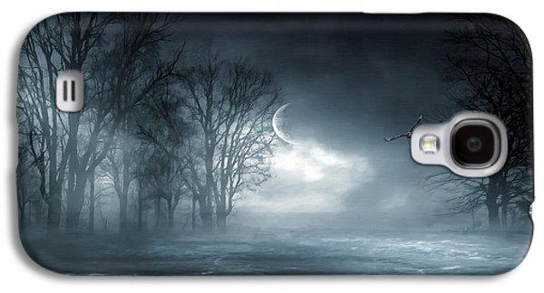 Sea Moon Full Moon Galaxy S4 Cases - Owl of Minerva Galaxy S4 Case by Lourry Legarde