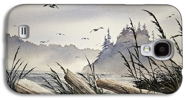 Landscape Greeting Cards Galaxy S4 Cases - Pacific Northwest Driftwood Shore Galaxy S4 Case by James Williamson