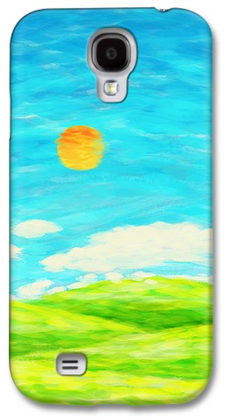 Blue Pastels Galaxy S4 Cases - Painting Of Nature In Spring And Summer Galaxy S4 Case by Setsiri Silapasuwanchai