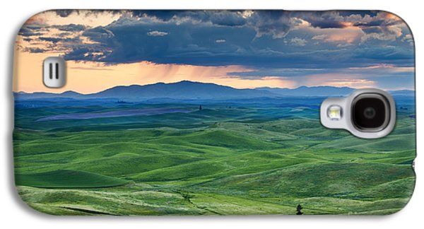 Green Galaxy S4 Cases - Palouse Storm Galaxy S4 Case by Mike  Dawson