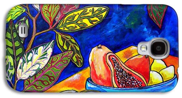 Plant Galaxy S4 Cases - Papaya Morning Galaxy S4 Case by Patti Schermerhorn