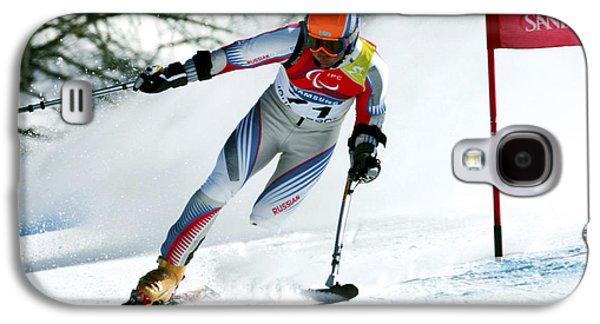 Olympian Galaxy S4 Cases - Paralympics Skiier Galaxy S4 Case by Ria Novosti