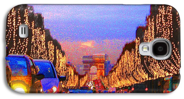 Photo Digital Art Galaxy S4 Cases - Paris 04 Galaxy S4 Case by Yuriy  Shevchuk