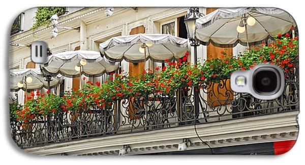 Chair Galaxy S4 Cases - Paris cafe Galaxy S4 Case by Elena Elisseeva