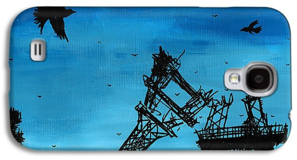 Tear Drawings Galaxy S4 Cases - Paris is Falling Down Galaxy S4 Case by Jera Sky