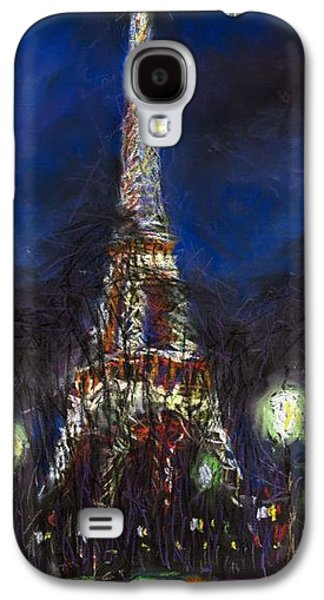 Impressionism Pastels Galaxy S4 Cases - Paris Tour Eiffel Galaxy S4 Case by Yuriy  Shevchuk