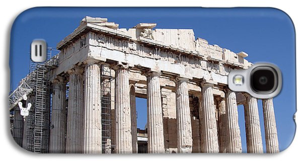 Civilization Galaxy S4 Cases - Parthenon front Facade Galaxy S4 Case by Jane Rix