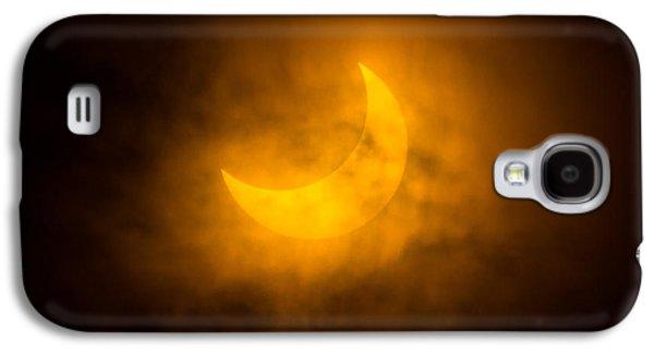 Solar Eclipse Galaxy S4 Cases - Partial Solar Eclipse Through Fog Galaxy S4 Case by Greg Nyquist