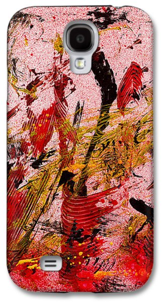 Swiss Mixed Media Galaxy S4 Cases - Party At The Hockey Match - White Galaxy S4 Case by Manuel Sueess