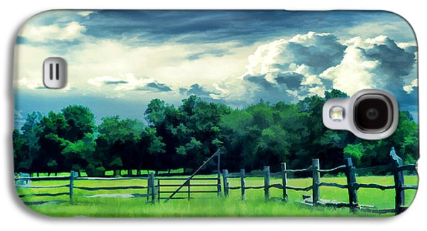Pastureland Galaxy S4 Cases - Pastoral Greenery Galaxy S4 Case by Lourry Legarde
