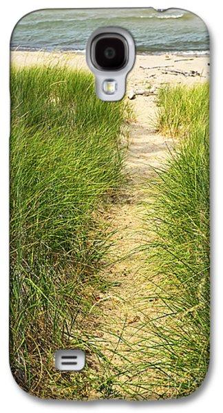 Grass Galaxy S4 Cases - Path to beach Galaxy S4 Case by Elena Elisseeva