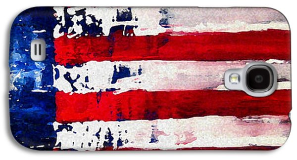 4th July Mixed Media Galaxy S4 Cases - Patriots Theme Galaxy S4 Case by Charles Jos Biviano
