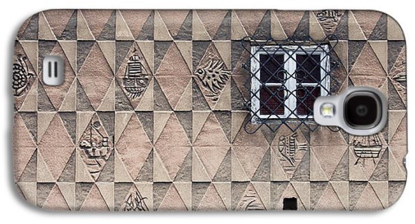 Relief Sculpture Galaxy S4 Cases - Pattern Design on House Wall Galaxy S4 Case by Artur Bogacki