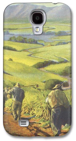 Farmers Field Galaxy S4 Cases - Pau Kanaka Work Galaxy S4 Case by Hawaiian Legacy Archive - Printscapes