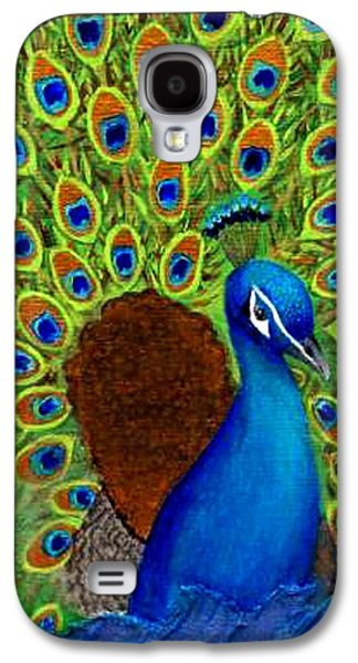Charlotte Mixed Media Galaxy S4 Cases - Peacocks Delight Galaxy S4 Case by The Art With A Heart By Charlotte Phillips