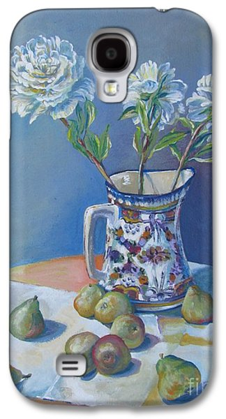 Stockton Paintings Galaxy S4 Cases - pears and Talavera table pitcher Galaxy S4 Case by Vanessa Hadady BFA MA