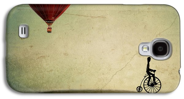 Surreal Landscape Galaxy S4 Cases - Penny Farthing for Your Thoughts Galaxy S4 Case by Irene Suchocki