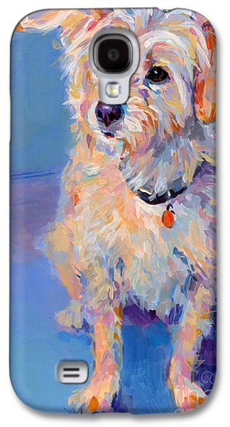 Puppies Galaxy S4 Cases - Penny Peach Galaxy S4 Case by Kimberly Santini
