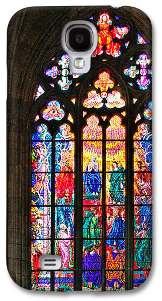 Pentecost Galaxy S4 Cases - Pentecost window - St. Vitus Cathedral Prague Galaxy S4 Case by Christine Till