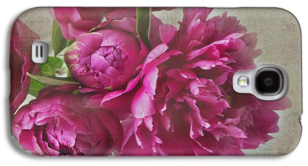 Texture Flower Galaxy S4 Cases - Peonies Galaxy S4 Case by Rebecca Cozart