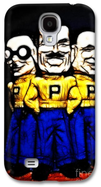 Car Mascot Digital Art Galaxy S4 Cases - Pep Boys - Manny Moe Jack - Color Sketch Style - 7D17428 Galaxy S4 Case by Wingsdomain Art and Photography