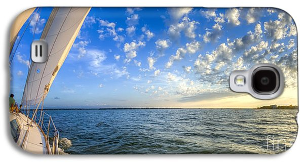 Amazing Sunset Galaxy S4 Cases - Perfect Evening Sailing on the Charleston Harbor Galaxy S4 Case by Dustin K Ryan