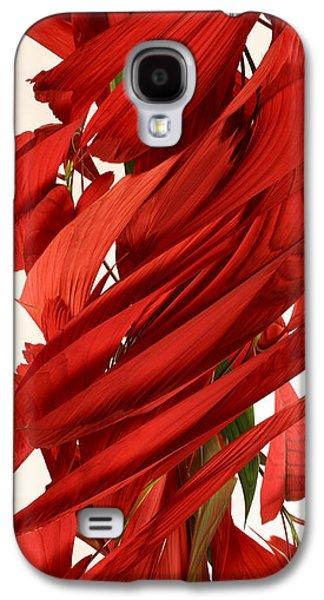 Designs In Nature Galaxy S4 Cases - Peripheral Streak Image Of A Poinsettia Galaxy S4 Case by Ted Kinsman