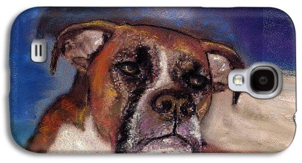 Boxer Pastels Galaxy S4 Cases - Pet Portraits Galaxy S4 Case by Darla Joy  Johnson