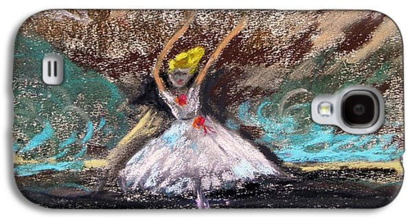 Ballet Dancers Pastels Galaxy S4 Cases - Petite Ballerina Galaxy S4 Case by Mary Carol Williams