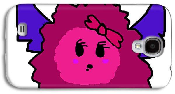 Puppy Digital Art Galaxy S4 Cases - Petunia Blueberry Galaxy S4 Case by Jera Sky