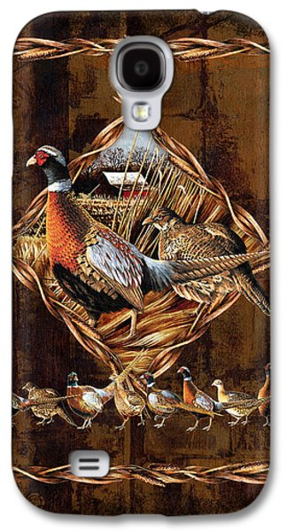 Farm Fields Paintings Galaxy S4 Cases - Pheasant Lodge Galaxy S4 Case by JQ Licensing