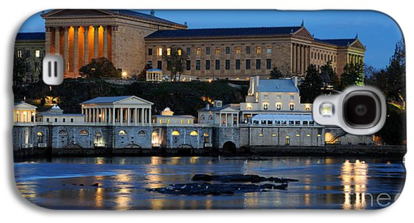 Columns Galaxy S4 Cases - Philadelphia Art Museum and Fairmount Water Works Galaxy S4 Case by Gary Whitton