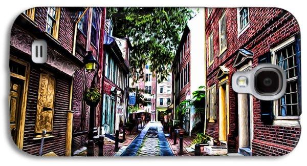 Phillies Digital Art Galaxy S4 Cases - Philadelphias Elfreths Alley Galaxy S4 Case by Bill Cannon