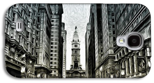 Phillies Digital Art Galaxy S4 Cases - Philly - Broad Street Galaxy S4 Case by Bill Cannon