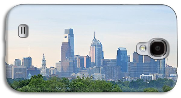 Phillies Digital Galaxy S4 Cases - Philly Skyline Galaxy S4 Case by Bill Cannon