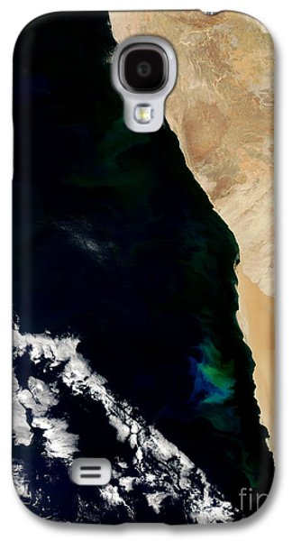 Phytoplankton Photographs Galaxy S4 Cases - Phytoplankton Bloom Off Nambia Galaxy S4 Case by Nasa