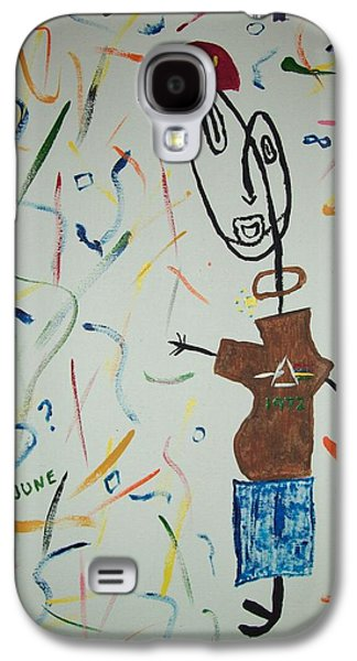 Recently Sold -  - Abstract Digital Paintings Galaxy S4 Cases - Picasso Jimi Galaxy S4 Case by Jimi Bush