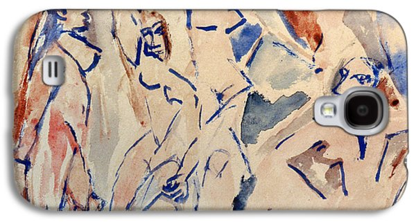 1907 Galaxy S4 Cases - Picasso: Les Desmoiselles Galaxy S4 Case by Granger