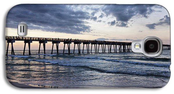 Panama City Beach Galaxy S4 Cases - Pier in the Evening Galaxy S4 Case by Sandy Keeton