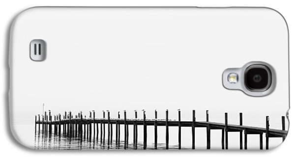 White River Scene Photographs Galaxy S4 Cases - Pier Galaxy S4 Case by Skip Nall